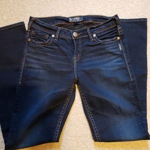 Silver Jeans Suki Mid Straight Jeans